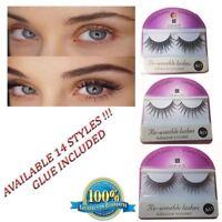 New Reusable False Eyelashes Natural Fake Soft Make Up With Adhesive Glue
