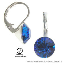 earrings with Swarovski Elements, colour: Saphir, Blue