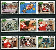 Anguilla 453-462 Walt Disney Santa Scenes Night before Christmas 1981. x14344