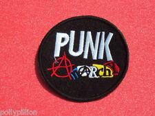 PUNK ANARCHY ANTI-WAR PUNK ROCK DISC SEW/IRON ON PATCH