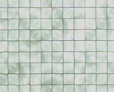 Beautiful Green Marble Dollhouse Miniature Paper Tile Flooring #Wcpp115