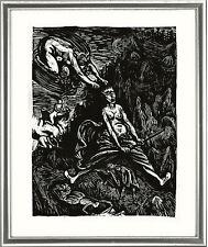 """Ernst Barlach (1870-1938), Holzschnitt / Woodcut, """"Hexenritt /Witch Ride"""", 1923"""