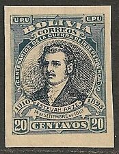Bolivia 1910 YV 89  Imperforated PROOF  MLH  VF