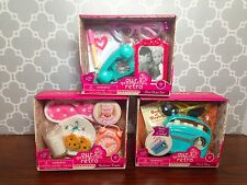 "Our Generation Retro Phone, Radio, Bedtime Sets Fits 18"" Dolls Chit Chat"