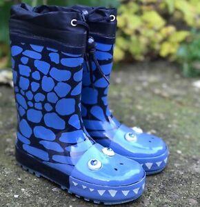 KIDS BOYS INFANTS WATERPROOF RAIN WELLIES MUCKER WELLINGTONS SPLASH SNOW BOOTS
