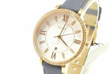 Fossil ES4291 Jacquiline White Dial Glitz Leather Ladies Watch
