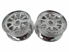 Rovan Front Chrome Wheels Rims Fits HPI Baja 5B SS 5T 5SC Buggy Truck
