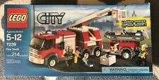 LEGO City Fire Truck Set Model 7239 Factory Sealed Retired Firefighter Fireman