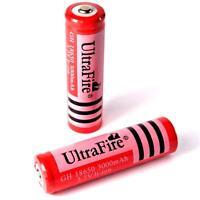 2 x Ultra Fire 3000 mAh Lithium Ionen Akku 3,7 V / Typ GH 18650 Li  - ion