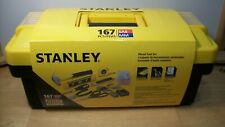 Stanley 167 Piece Mixed Tool Set Car and Home Starter Tool Kit with Box~New