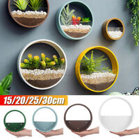 Iron Wall Hanging Basket Vase Flower Pot Round Planter Bonsai Fr Home Art Decor%
