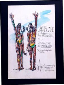 Charles Berliner Original Costume Design Drawing LANDSCAPE Margalit Oved Dance 2