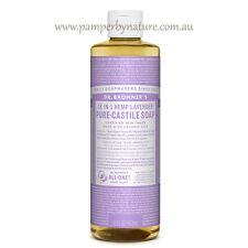 Dr Bronner's Pure Castile Organic Liquid Soap Size 473ml - 11 Varieties Lavender