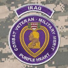 Combat Veteran - Purple Heart Patch with IRAQ Tab - OIF - Ranger - USMC - Army