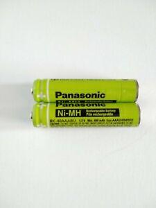 2 Panasonic Original BK-40AAABU Rechargeable Phone Batteries 400mAh replacement