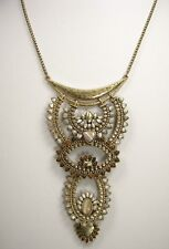 Lucky Brand Stone Accented Geometric Gold Tone Statement Necklace MSRP $69