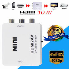 Mini HDMI to Composite CVBS 3RCA  AV Video Converter Adapter 720p 1080p Upscaler