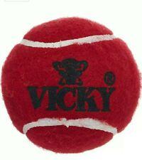 Vicky Cricket Ball Tennis Heavy - 3 new balls + 3 used balls Maroon Freeshipping