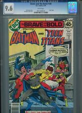 Brave and the Bold #149 CGC 9.6 (1979) Batman Teen Titans White Pages