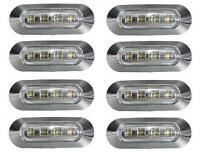 8x LED BLANCA LUZ DE Marcador Lateral 24v para camión Bus CAMIÓN VOLVO DAF IVECO