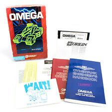 OMEGA for IBM PC / Tandy by ORIGIN Systems In Big Box, 1989, CIB, VGC