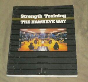 Vtg 1986 Iowa Hawkeyes Strength Training The Hawkeye Way Sports Exercise Book