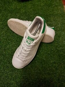 *Adidas Originals Stan Smith 8 UK US 8.5 White Green Immaculate condition*