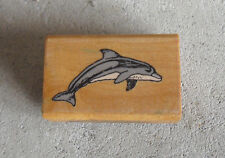 Vintage 1982 Comotion Dolphin Rubber Stamp 174