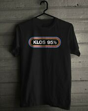 KLOS 95.5 Logo Famous Classic Rock Radio Station 951/2 LA Mens S to 3XL