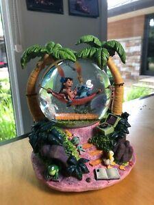 "Disney Lilo & Stitch Snow Globe with music ""Aloha"" and lights NIB"