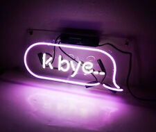 """ K-BYE "" Purple Bistro Workshop Pub Decor Custom Neon Sign Light Poster Display"