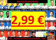 Alle 36 REWE DFB Karten Sammelkarten WM 2018 für das Sammelalbum komplett NEU