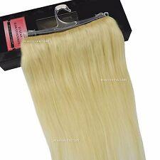 Beauties Factory Halo Secret Flip in Hair Extensions Platinum Blonde 100 Remy H
