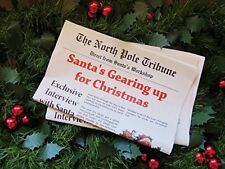 Pack of 2 Christmas Newspaper North Pole lapland stocking filler