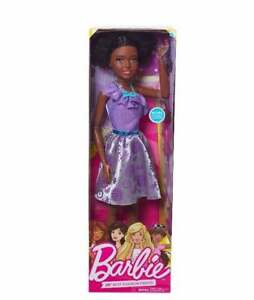 "Life size Barbie 28"" Purple Posable Just Play Best Fashion Friend Doll Curly"