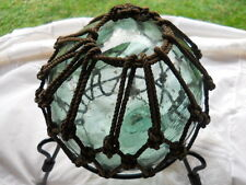 Fishing Float Green-Blue Vintage Blown Glass Nautical Free Shipping