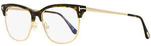 Tom Ford Blue Block Eyeglasses TF5546B 052 Havana/Gold 52mm FT5546
