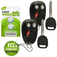 2 Replacement For 2002 2003 2004 2005 2006 2007 2008 2009 GMC Envoy Key + Fob