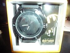 Batman Watch Brand New Never Worn Black resin Band Large Logo in Center