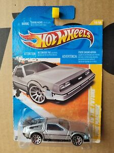Hot Wheels 2011 - BACK TO THE FUTURE TIME MACHINE [SILVER] NEAR MINT VHTF