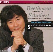 Beethoven: Sinfonia (symphony) No.7; Schubert: No.8 / Seiji Ozawa - CD Philips