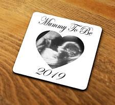 MUMMIA personalizzata da 2019 Sottobicchieri Regalo Baby Scansione Immagine nuova mamma mothers day