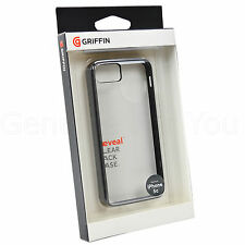 Genuine Griffin Reveal Hard Shell Clear Bumper Case Cover For iPhone 5C - Black