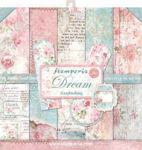 """Stamperia Double Sided Paper Pad 12""""X12"""" 10/Pkg Dream, 10 Designs/1 Each"""