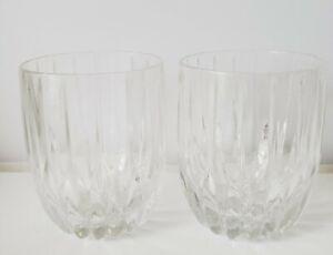 2 MIKASA Crystal PARK LANE Executive Double Old Fashioned tumblers Rocks glasses
