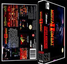 Mortal Kombat 2 - SNES Reproduction Art Case/Box No Game.