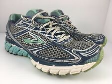 BROOKS Ghost 5 Women US 7.5 Narrow White + Blue Running Athletic Shoes