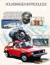 1982 VW Volkswagen Formula-E Sales Brochure - Rabbit Scirocco Pickup Truck Jetta