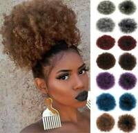 """8"""" Thick Synthetic Afro Kinky Curly Puff Ponytail Drawstring Hair Extensions UK"""