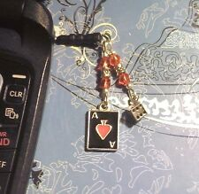 Dice Cards Cell Phone Charm~Dust Plug Cover~Android~$1 SHIP
